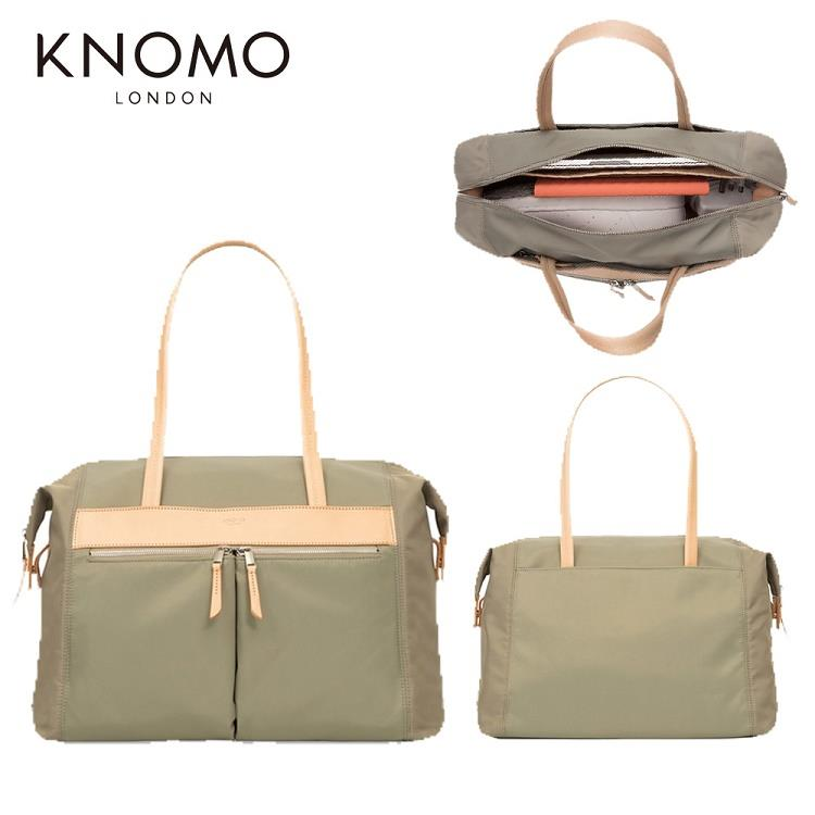 KNOMO CURZON 歐式優雅女士肩側背包-橄欖色