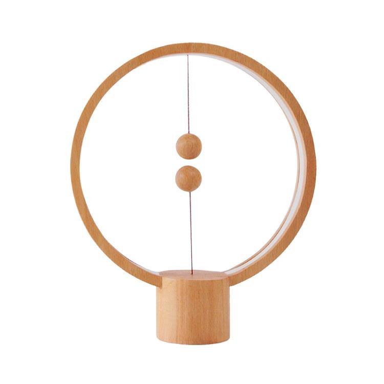 荷蘭 allocacoc Heng衡 LED燈/櫸木/淺色圓形