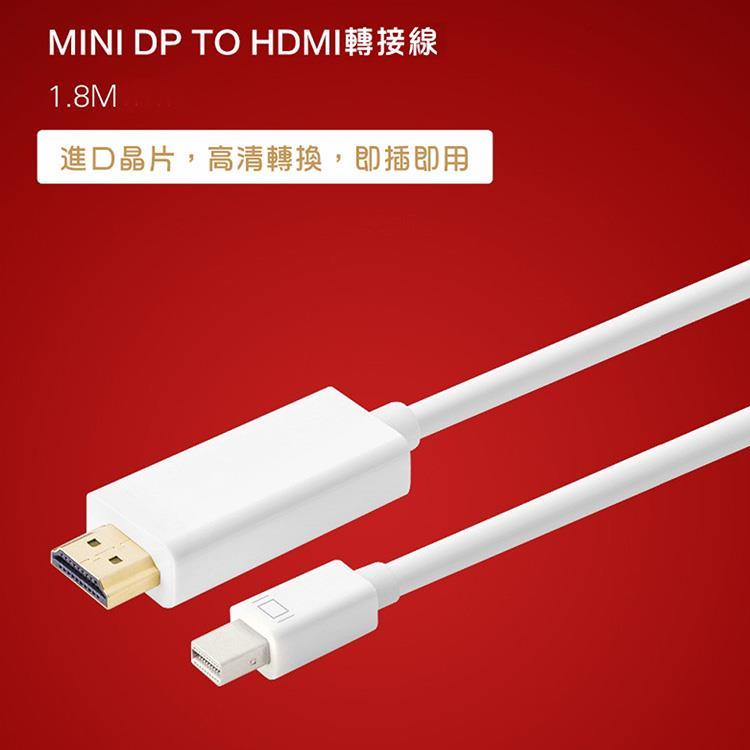 Mini DP 轉 HDMI 1.8M