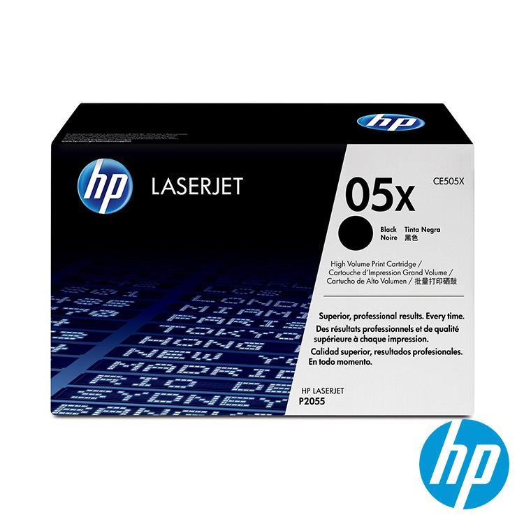 HP 05X 黑色原廠LaserJet 高容量碳粉匣(CE505X)