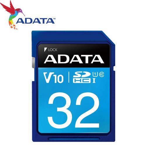 ADATA 威剛 32GB SDHC SD UHS-I U1 C10 V10 記憶卡