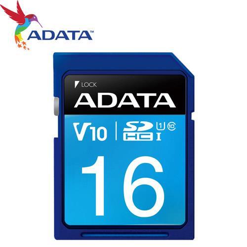 ADATA 威剛 16GB SDHC SD UHS-I U1 C10 V10 記憶卡