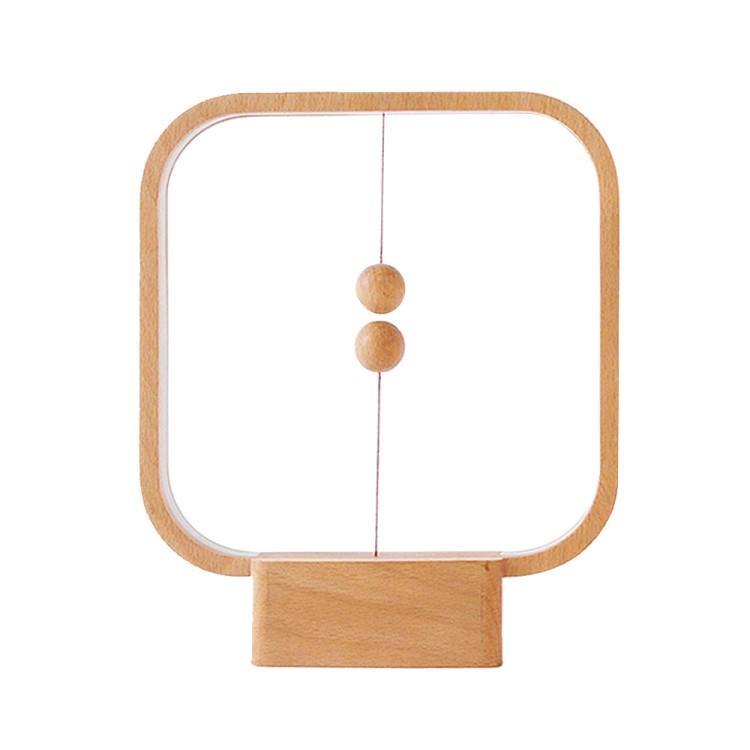 荷蘭 allocacoc Heng衡 LED燈/櫸木/淺色方形