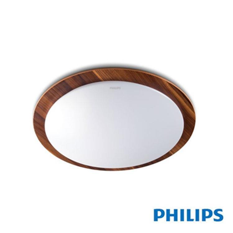 【PHILIPS 飛利浦】雙色木紋 30瓦LED調光吸頂燈-6500K/2700K (31112)