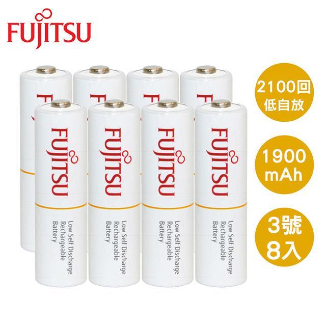 Fujitsu 富士通 AA3號1900mAh低自放充電電池8入
