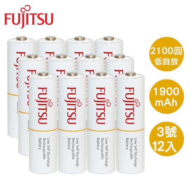 Fujitsu 富士通 AA3號1900mAh低自放充電電池12入