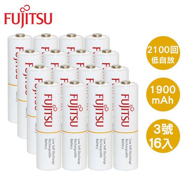 Fujitsu 富士通 AA3號1900mAh低自放充電電池16入