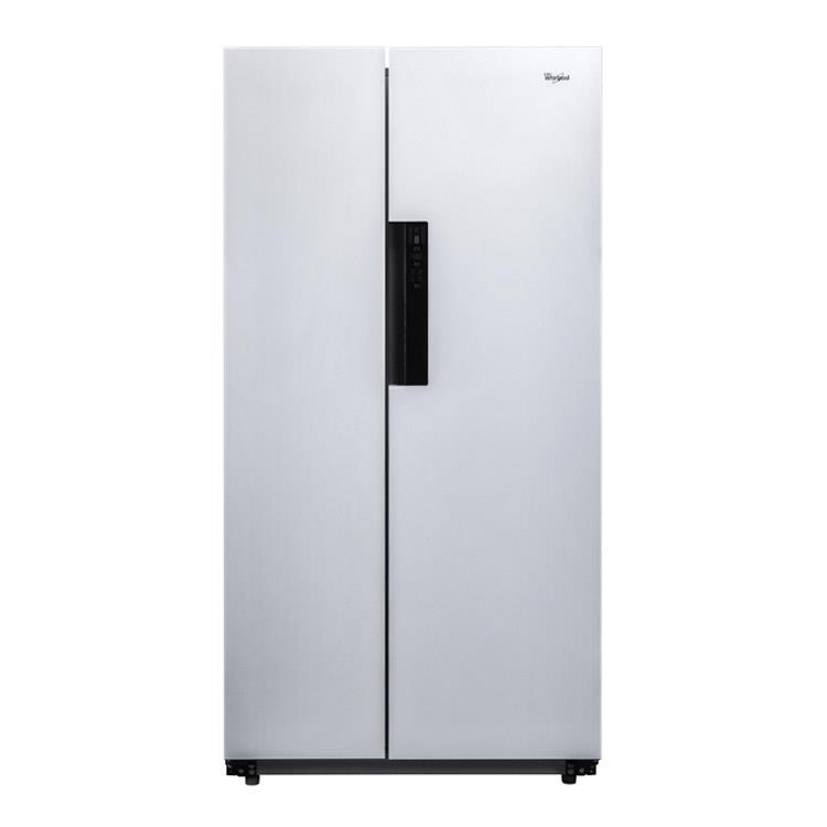 【Whirlpool 惠而浦】600L白色水晶玻璃對開門變頻冰箱 WHS600LW