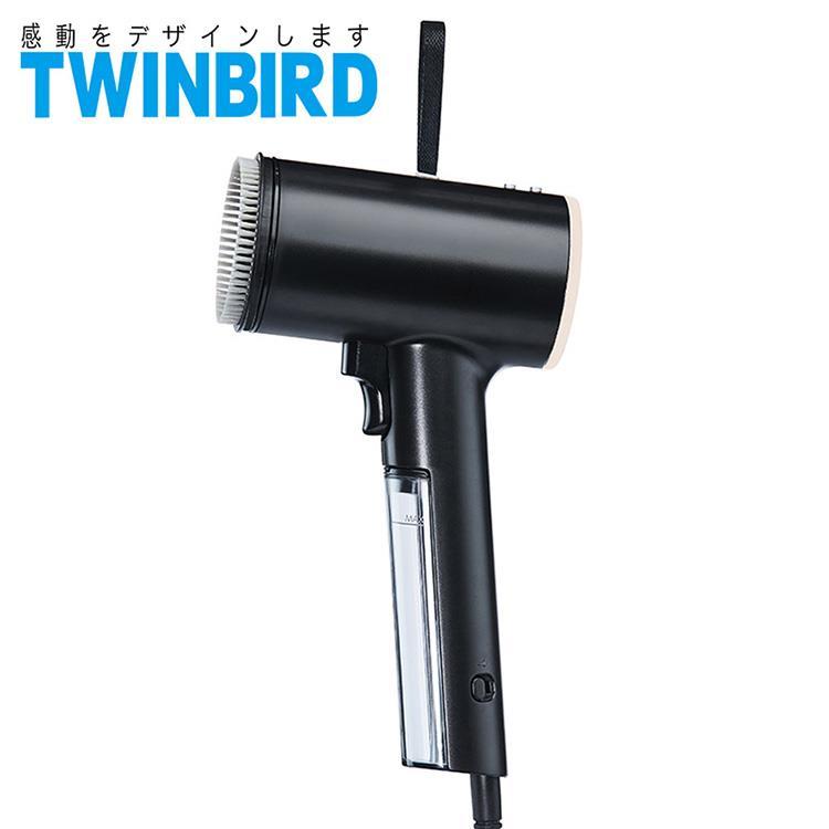 日本TWINBIRD-高溫抗菌除臭 美型蒸氣掛燙機(黑)TB-G006TWB