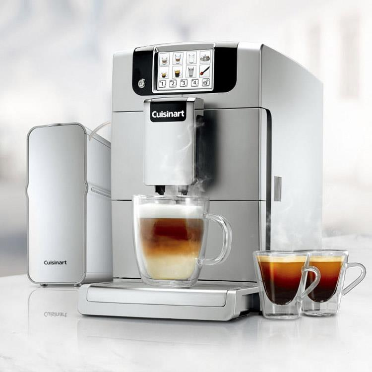 買就送【CUISINART美膳雅】全自動義式濃縮咖啡機 EM-1000TW