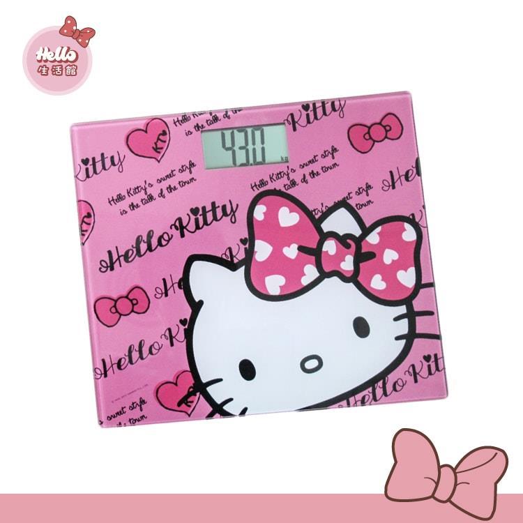 [Hello 生活館] Hello Kitty玻璃電子體重計
