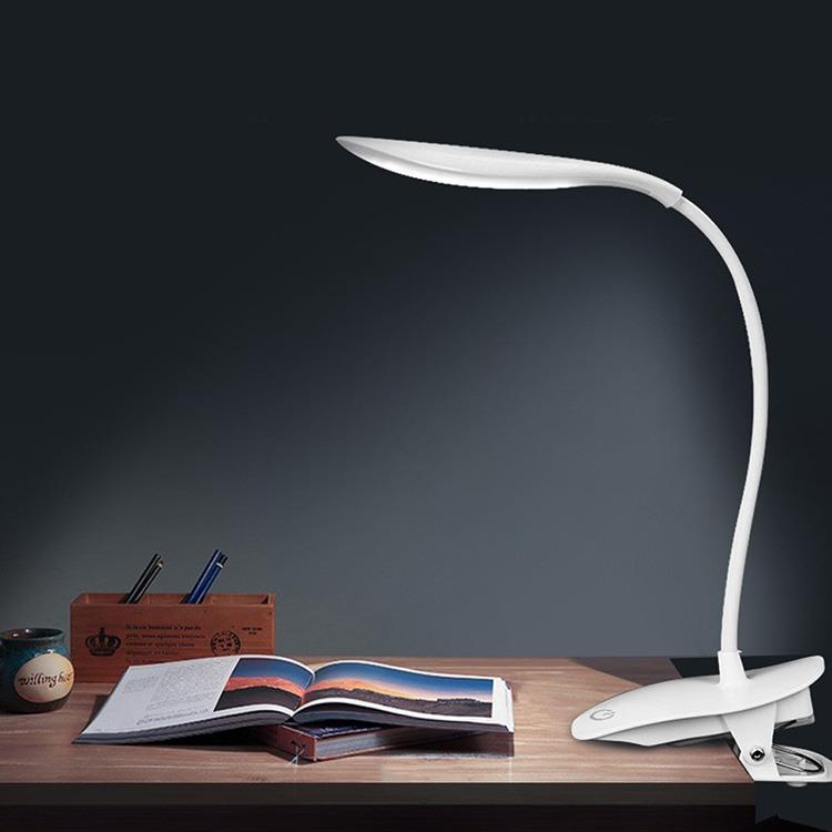 充電LED墨魚腕蛇管360度夾式閱讀燈