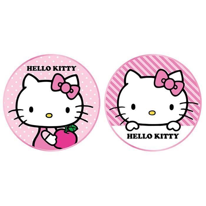 台灣製造 正版三麗鷗授權 Hello kitty 金屬邊框玻璃面無線充電盤-條紋