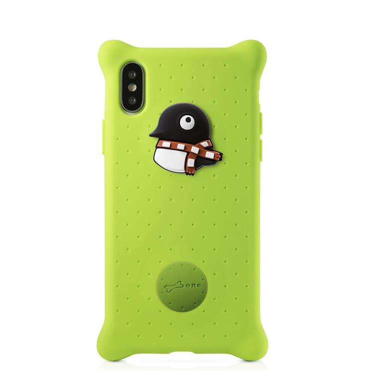 【BONE】IPhone XS泡泡保護套-企鵝小丸