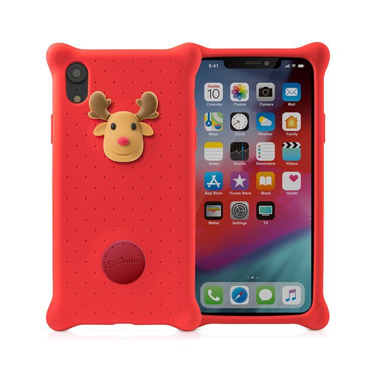 【BONE】IPhone XR 泡泡保護套-麋鹿先生