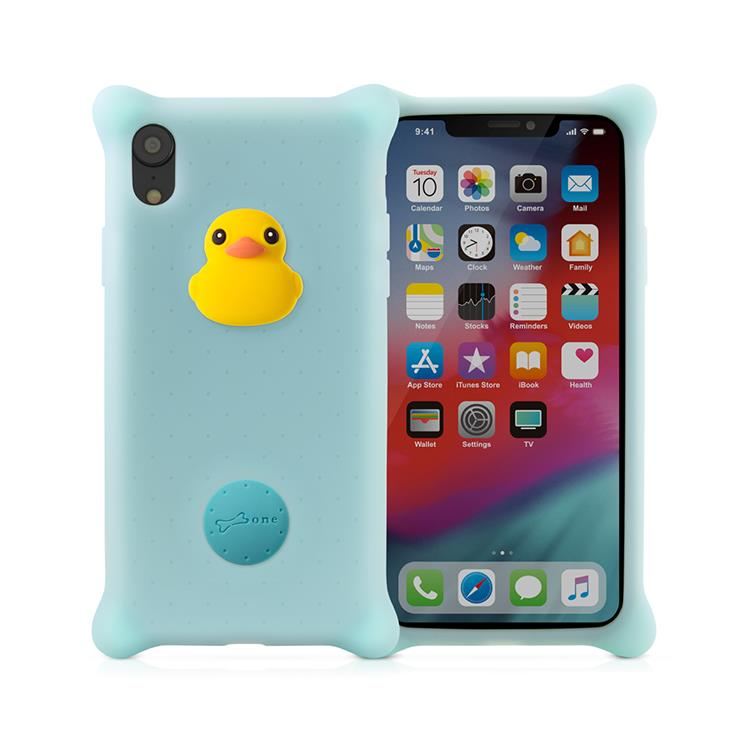 【BONE】IPhone XS MAX 泡泡保護套-派提鴨