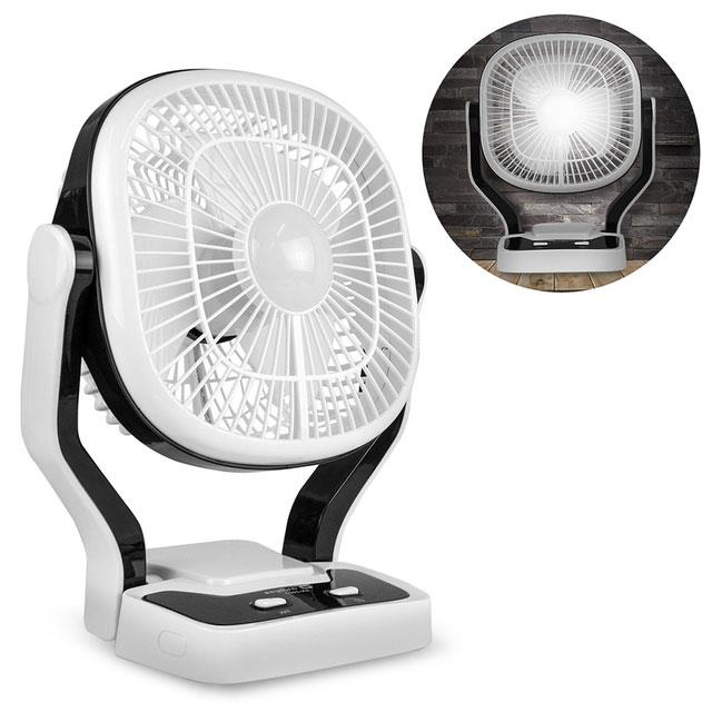 USB充電式 夜燈照明 8吋可調速大風扇(AN-2907)