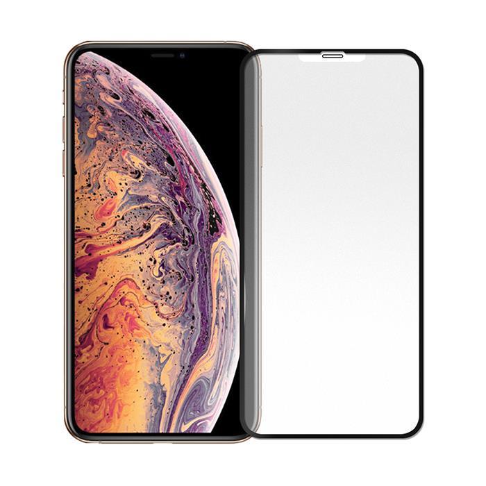 【Q&K】全覆蓋霧面iPhoneXs Max 滿版大視窗防指紋9H鋼化保護貼