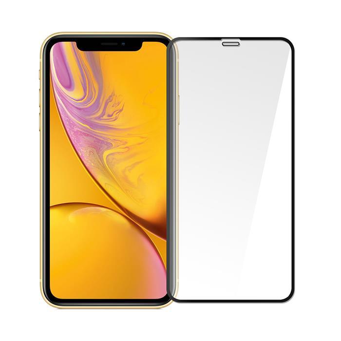 【Q&K】全覆蓋iPhone XR 高清亮面9H鋼化保護貼