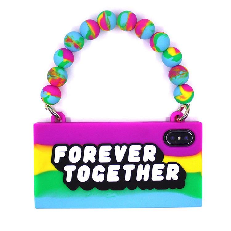 【Candies】彩虹系列 FOREVER TOGETHER手提包-IPhone X/XS