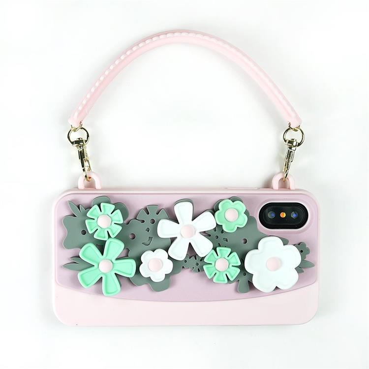 【Candies】Blossom系列晚宴包(粉)-IPhone X/XS