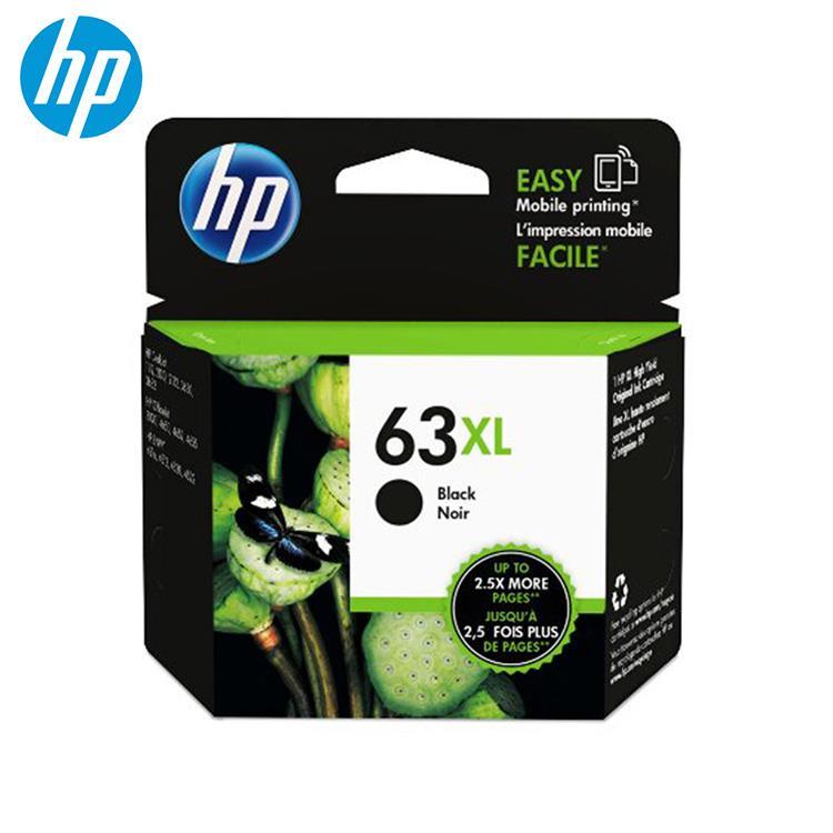 HP 63XL 原廠黑色高容量墨水匣(F6U64AA)