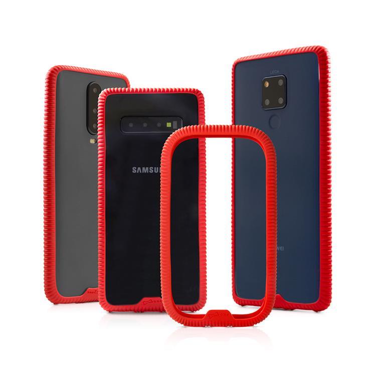【Bone】環形手機綁 Phone RingTie - 防手滑輕薄手機邊框-紅