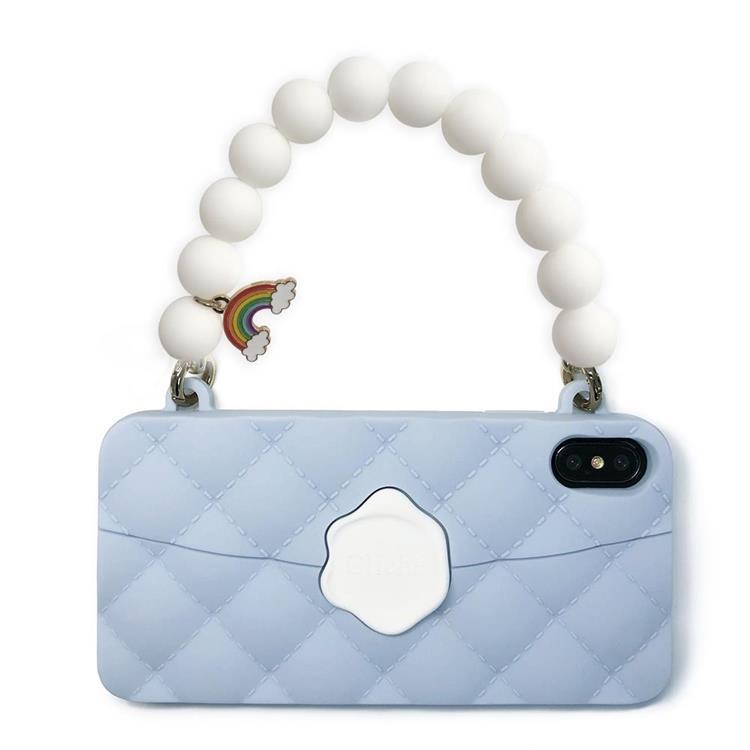【Candies】彩虹經典晚宴包(湖水藍)-IPhone XS Max