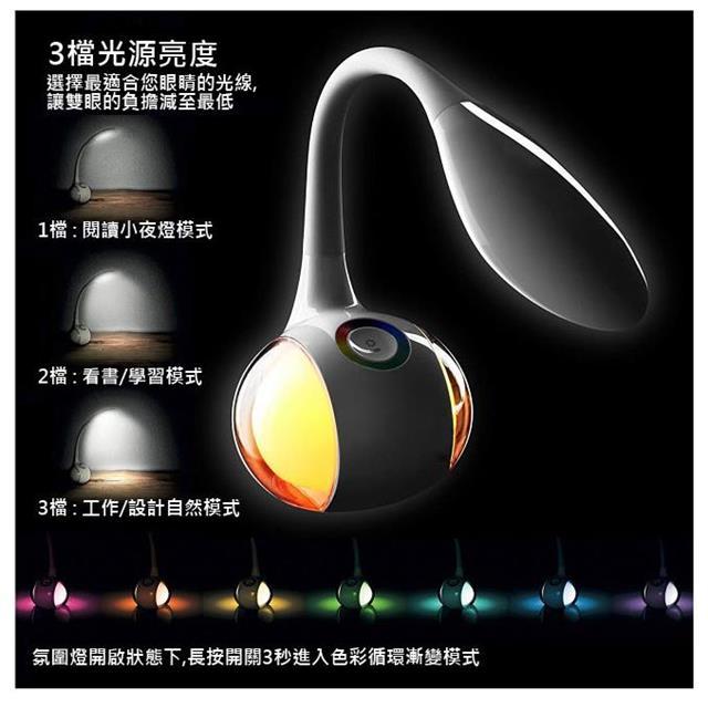 【GLOBO 燈的專家】 幻彩智慧魔球盤LED檯燈(58278)
