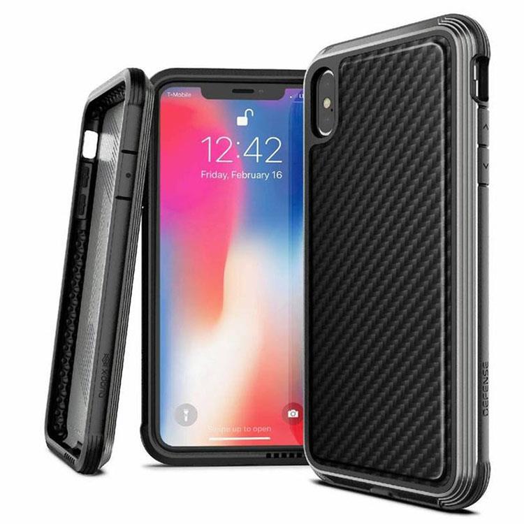 X-Doria 刀鋒奢華系列 iPhone XS 保護殼 (摩登黑)