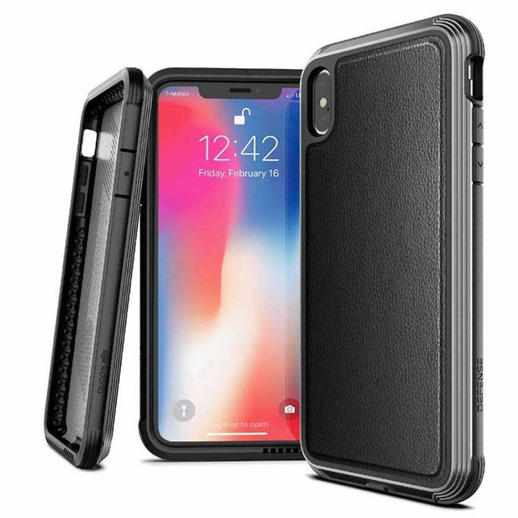 X-Doria 刀鋒奢華系列 iPhone XS 保護殼 (紳士黑)