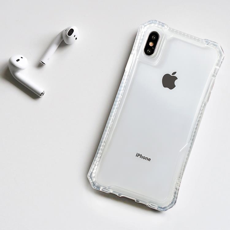 【Navjack】iPhone Xs Max 超抗摔吸震空壓保護殼 _霧白色