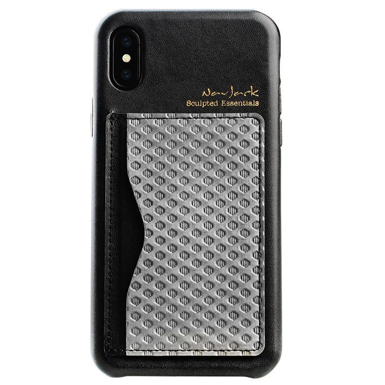 【Navjack】iPhone X/XS (5.8吋)│雙色卡夾可立式保護背蓋_英倫灰