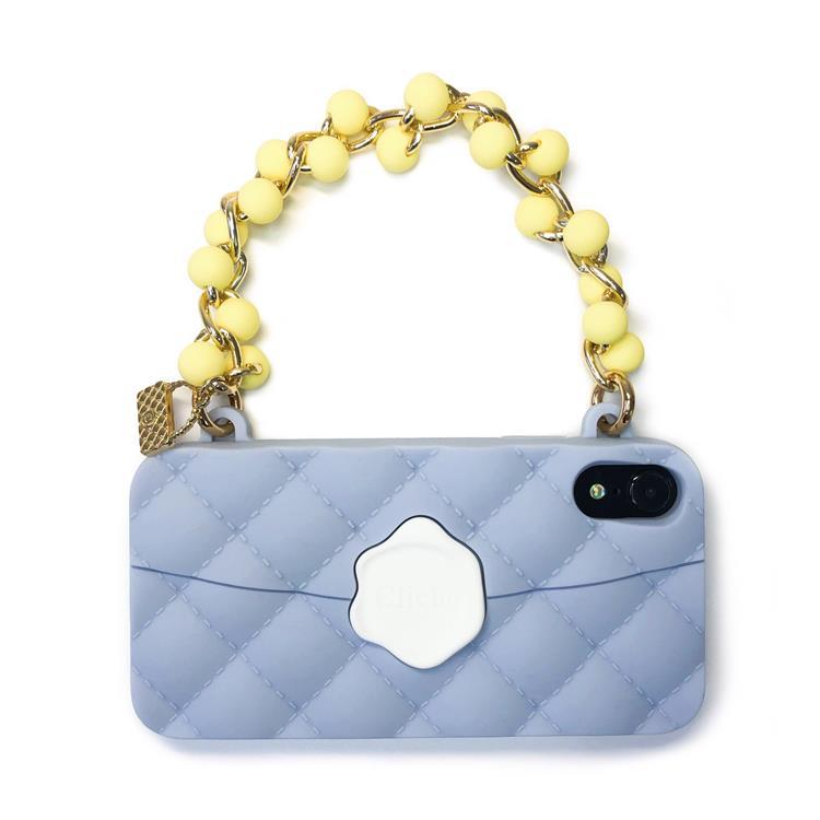 【Candies】珠鍊經典晚宴包 (湖水藍) - iPhone XR