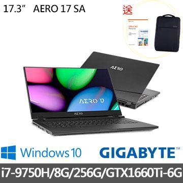 GIGABYTE技嘉 AERO 17 SA 17.3吋 i7-9750H 8G 電競筆電