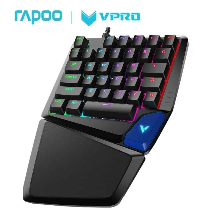 Rapoo 雷柏V550RGB 35鍵 電競鍵盤(青軸)