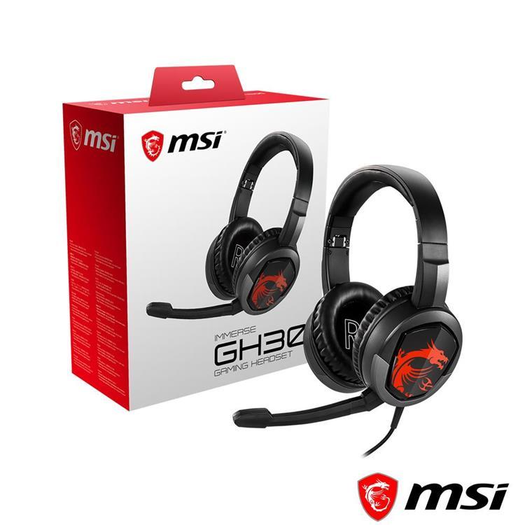 MSI微星 IMMERSE GH30 電競耳機