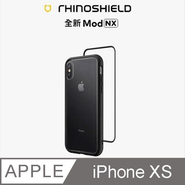 【RhinoShield 犀牛盾】iPhone Xs Mod NX 邊框背蓋兩用手機殼-黑色