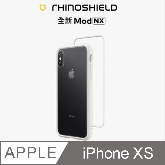 【RhinoShield 犀牛盾】iPhone Xs Mod NX 邊框背蓋兩用手機殼-白色