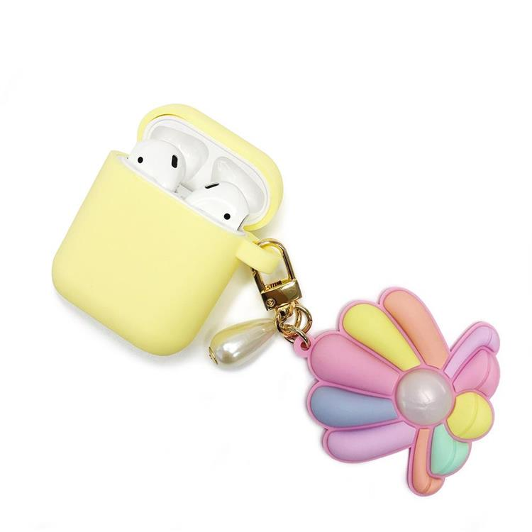 【Candies】AirPods收納盒 (黃-貝殼)