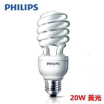【飛利浦 PHILIPS】HELIX 20W 省電燈泡 黃光 E27 (6入組)