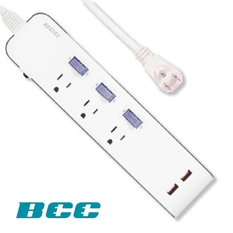 【BCC】FC903 3切3插2USB延長線