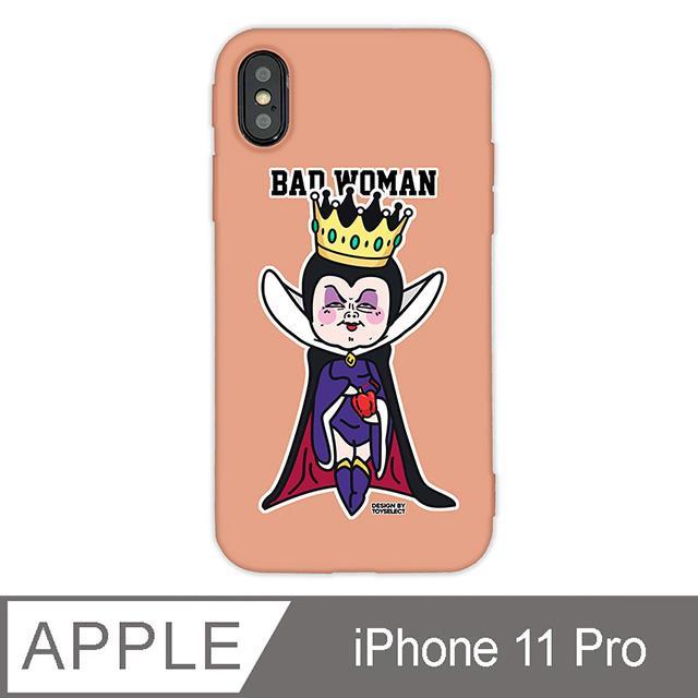 iPhone 11 Pro 5.8吋 經典崩壞反派角色手機保護殼-她不是壞皇后(珊瑚橘)