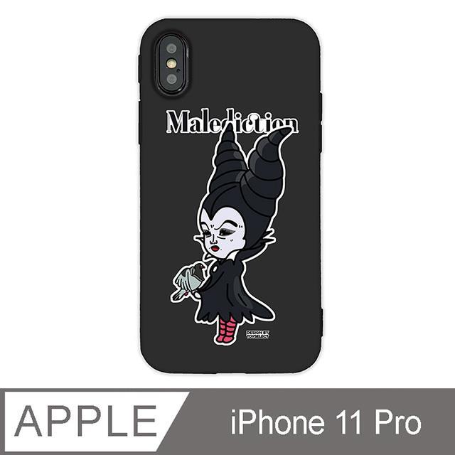 iPhone 11 Pro 5.8吋 經典崩壞反派角色手機保護殼-她不是黑魔女(黑色)