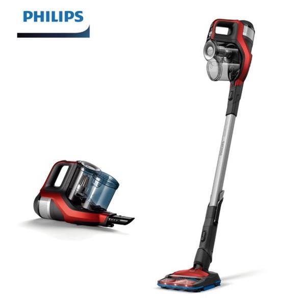 【Philips 飛利浦】360度全方位氣旋直立無線手持吸塵器(FC6823)