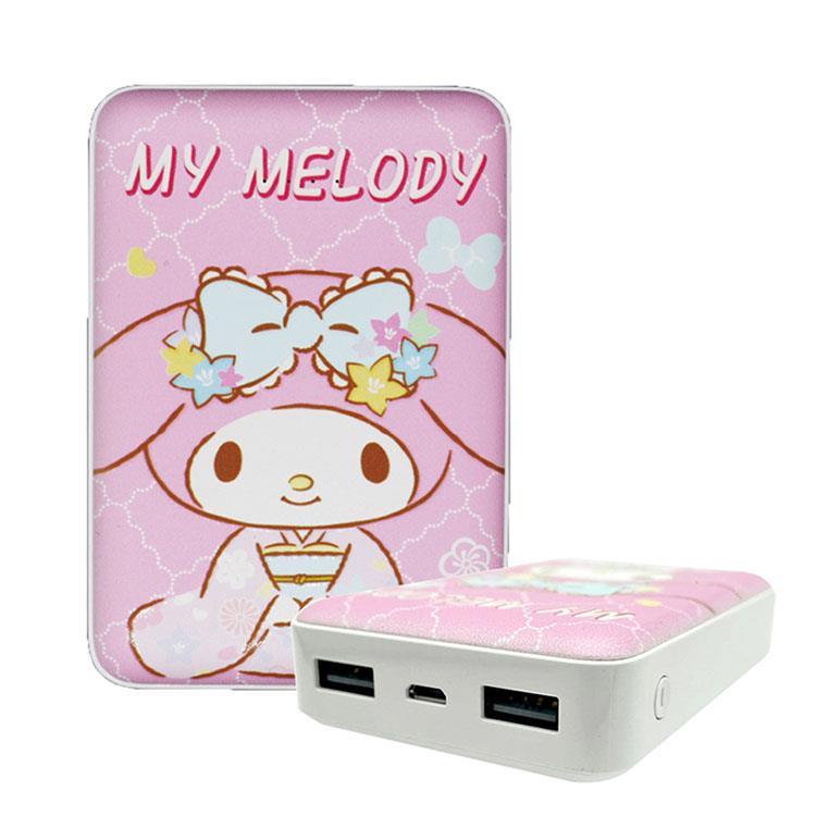 【正版授權】Sanrio三麗鷗 10000 series 雙輸出行動電源 和服美樂蒂