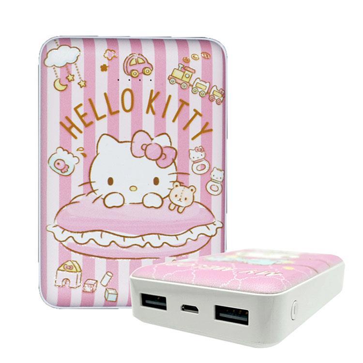 【正版授權】Sanrio三麗鷗 10000 series 雙輸出行動電源 條紋Kitty