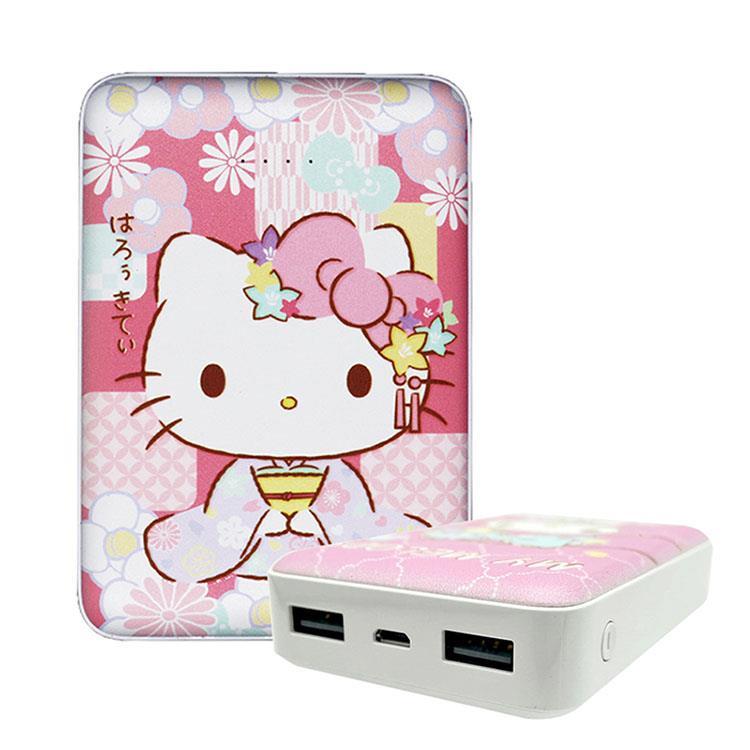 【正版授權】Sanrio三麗鷗 10000 series 雙輸出行動電源 和服Kitty