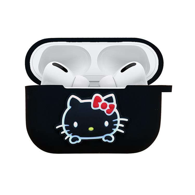 【正版授權】Sanrio三麗鷗 AirPods Pro專用矽膠保護套 黑色