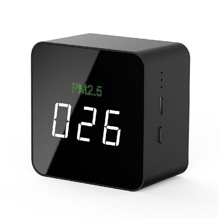 迷你黑色方晶體PM2.5空氣品質檢測器